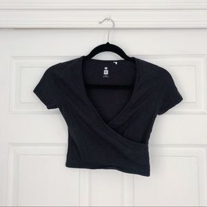 Pacsun Cropped Wrap Tee